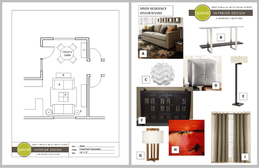 interior design business plan sample