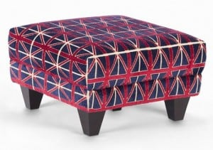 London Olympics Union Jack ottoman