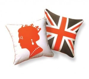 Olympic British inspired decor pillows