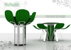 Flower Blooms table & chairs