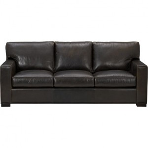 Crate & Barrel Axis sofa in leather