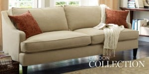 Pottery Barn cream sofa